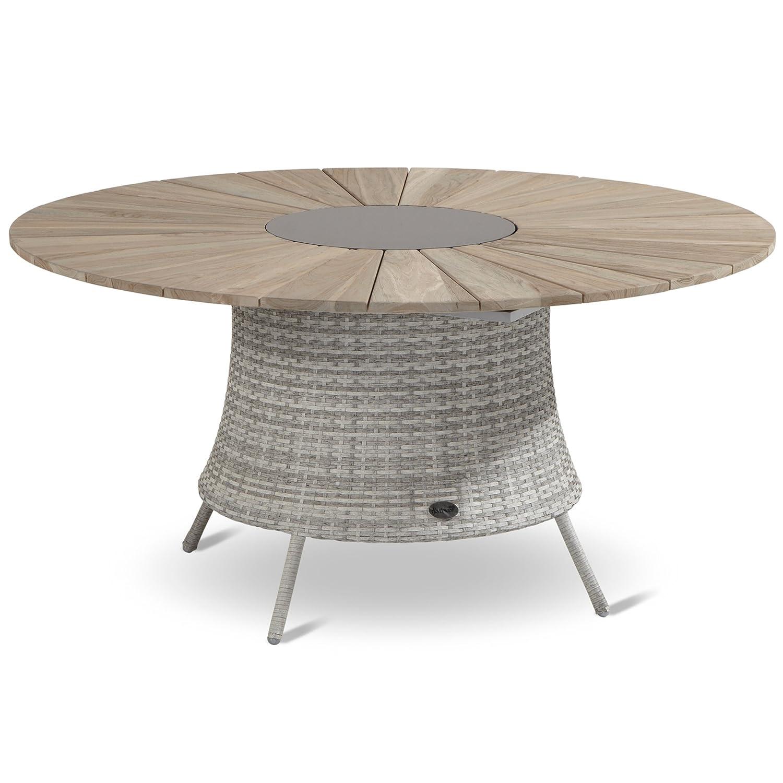 Hartman Provence Tisch rund 150 cm Graniteinleger Teak wicker royal grey flat günstig kaufen