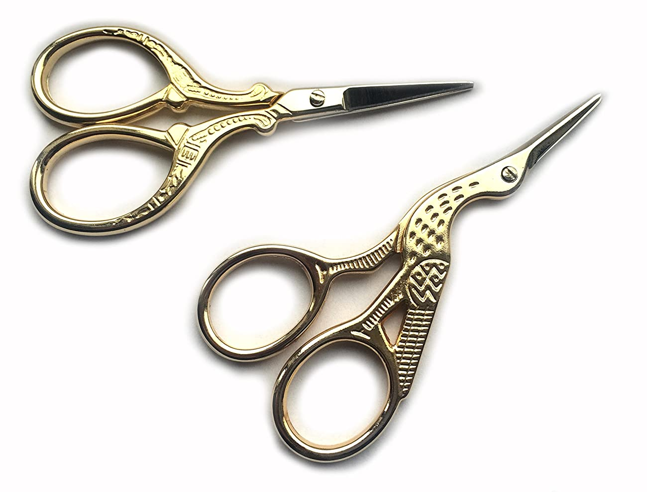 TWO High Quality 3.5 Inch Gold Plated Stainless Steel Scissors for Embroidery, Sewing, Craft, Art Work & Everyday Use - Ideal as a Gift 4