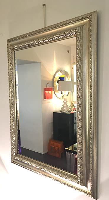 Wall Mirror with Wooden Frame 90x 70cm Unique Handmade