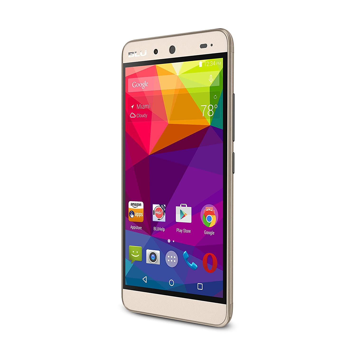 BLU ENERGY X Smartphone - With 4000 mAh Super Battery - GSM Unlocked - Gold