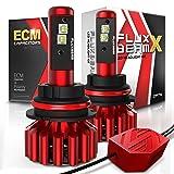 OPT7 Fluxbeam X 9004 LED Headlight Bulbs w/Arc-Beam Lens - 8,400LM 6000K Daytime White - All Bulb Sizes - 80w - 2 Year Warranty