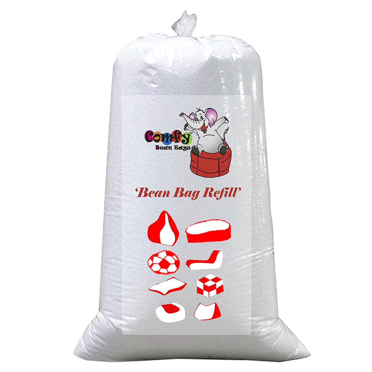 Comfy Bean Bags 2kg Filler Beans Pack (white): Amazon: Home & Kitchen