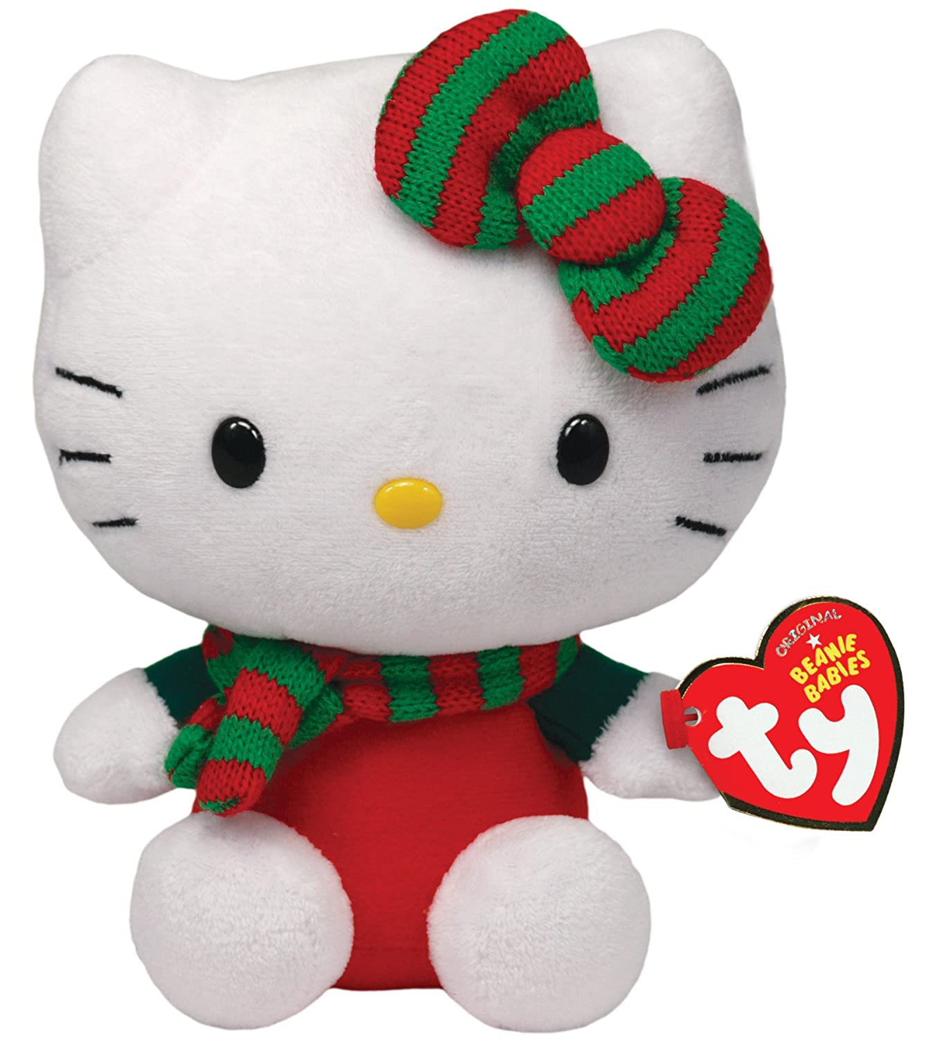 Ty Beanie Babies Hello Kitty - Red Christmas Outfit    8aeb46599c90