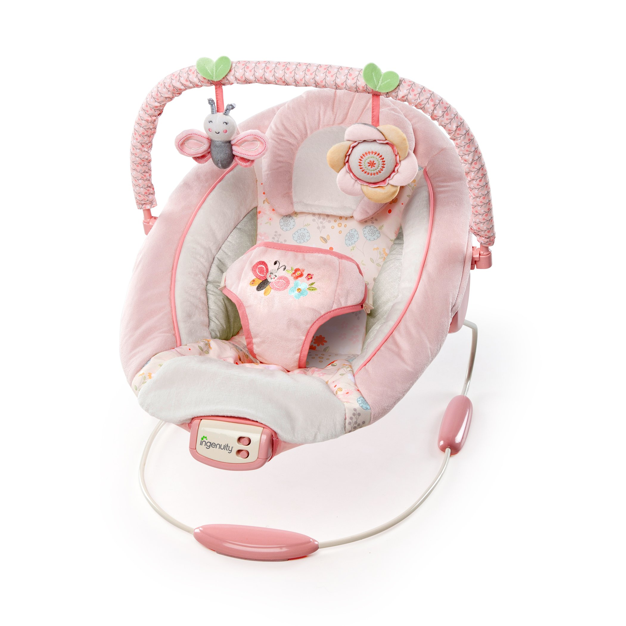 Ingenuity Cradling Vibrating Baby Bouncer With Melodies In