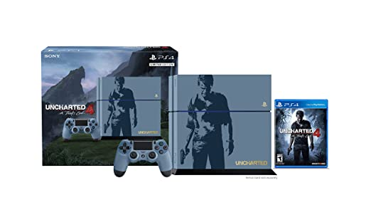 PlayStation 4 500GB Console - Uncharted 4 Limited Edition Bundle