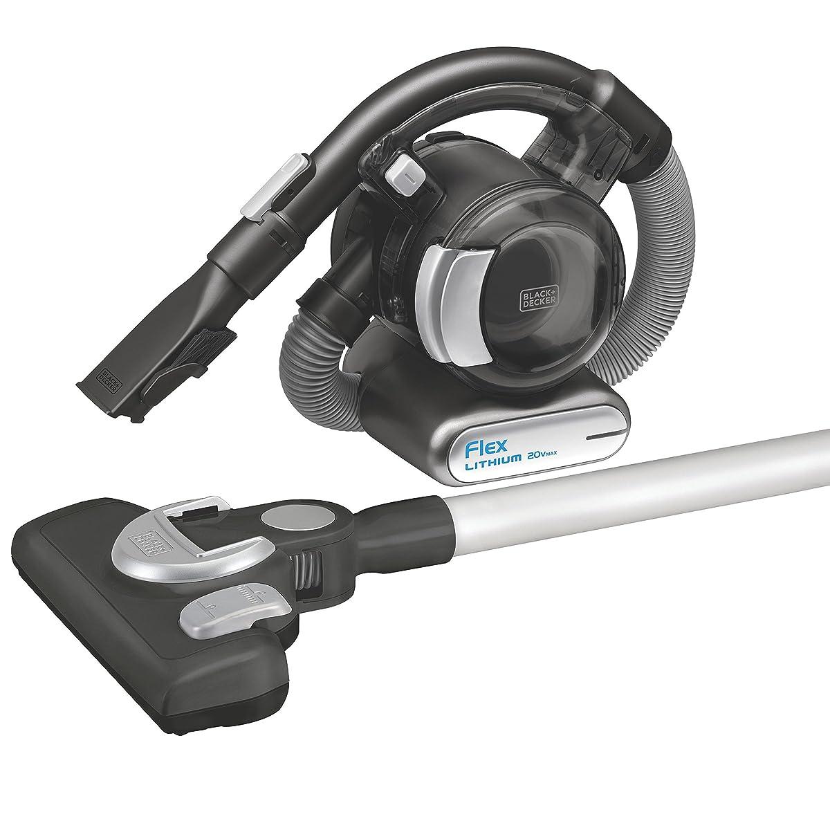 BLACK+DECKER BDH2020FLFH MAX Lithium Flex Vacuum with Stick Vacuum Floor Head and Pet Hair Brush, 20-volt - Cordless