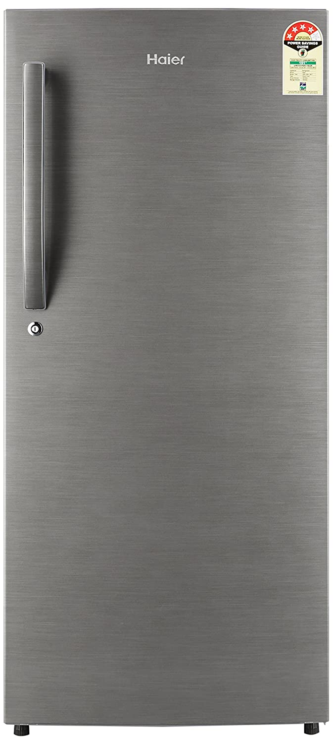 Haier 195 L 4 Star Direct-Cool Single Door Refrigerator (HRD-1954BS-R/HRD-1954BS-E, Brushed Silver)-12% OFF