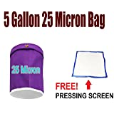 E-ONSale Essense Extractor Kit Herbal Ice Bubble Hash Bag , 5-Gallon - Size (25 Micron - Purple)