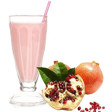 Granatapfel Geschmack Eiweißpulver Milch Proteinpulver Whey Protein Eiweiß L-Carnitin angereichert Eiweißkonzentrat fur Proteinshakes Eiweißshakes Aspartamfrei (10 kg)