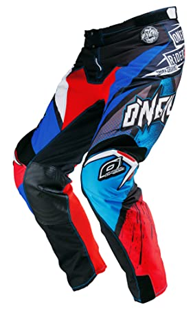 Pantalon Motocross Oneal 2016 Mayhem Lite Glitch Bleu-Rouge (34 Taille = Fr 44 , Rouge)