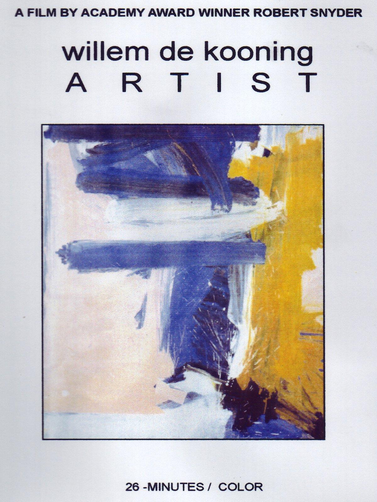Willem De Kooning Artist on Amazon Prime Video UK