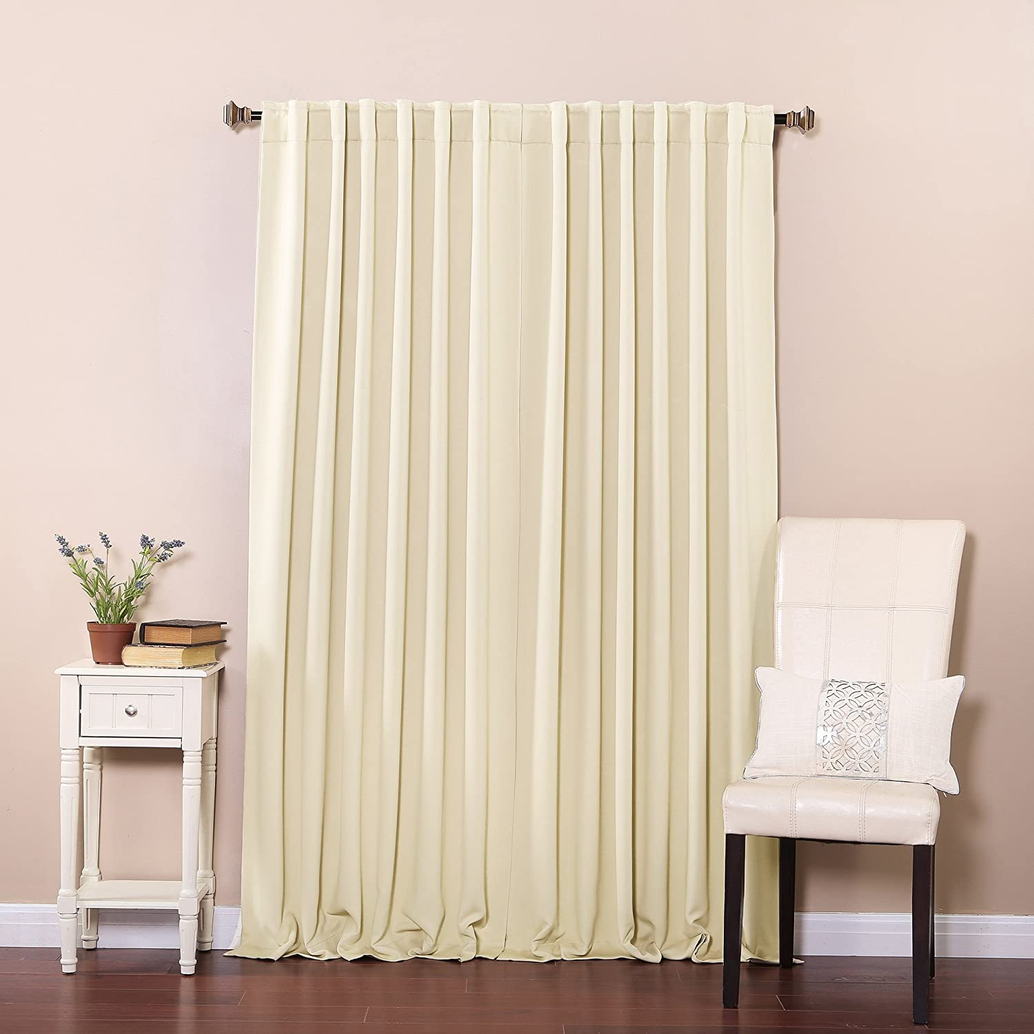 "Solid Thermal Insulated Back Tap Blackout Curtain 52"" X 84"