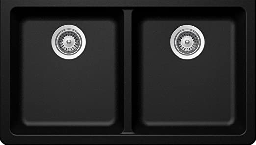 SCHOCK ALIN200YU097 ALIVE Series CRISTADUR 50/50 Undermount Double Bowl Kitchen Sink, Magma