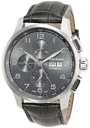 Louis Erard Men's 78228AS13.BDC56 1931 Automatic Grey Leather Chrono Tachymeter Date Watch