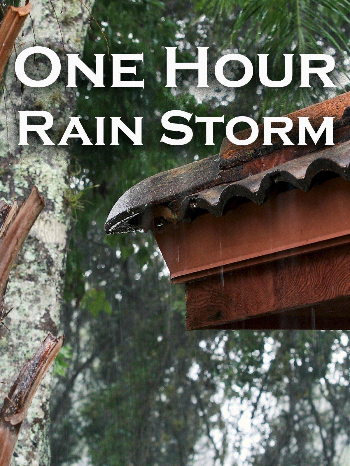 One Hour Rain Storm