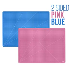 US Art Supply 36 x 48 PINK/BLUE Professional Self Healing 5-Ply Double Sided Durable Non-Slip PVC Cutting Mat Great for Scrapbooking, Quilting, Sewing and all Arts & Crafts Projects (Color: Pink/Blue, Tamaño: 36x48)