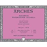 Arches Watercolor Paper Block, Hot Press, 8