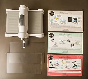 Sizzix 660340 Big Shot Plus Cutting/Embossing Machine, White/Gray