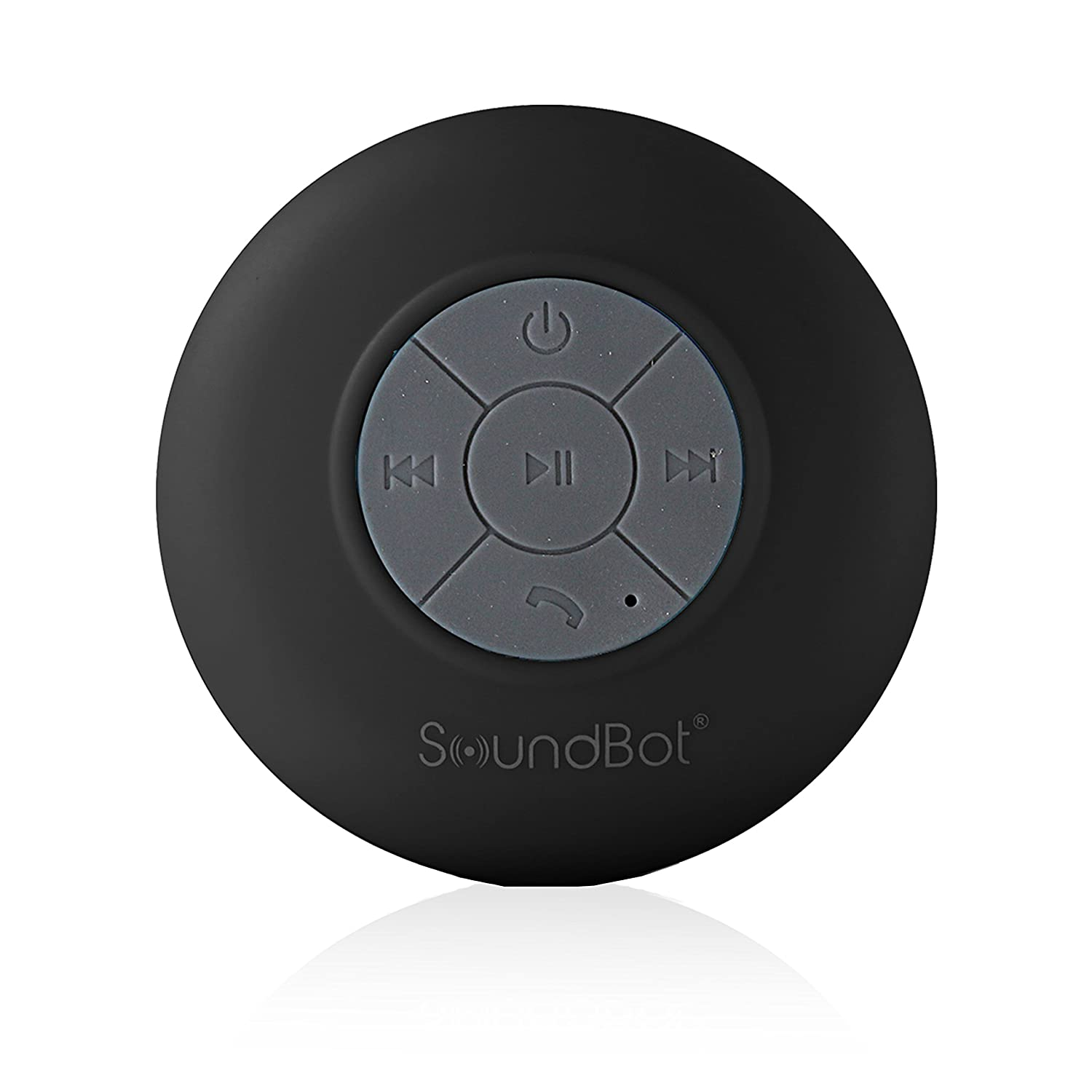 SoundBot® SB510 HD Water Resistant Bluetooth 3.0 Shower Speaker, Handsfree Portable Speakerphone with Built-in Mic, 6hrs of playtime, Control Buttons and Dedicated Suction Cup for Showers ..