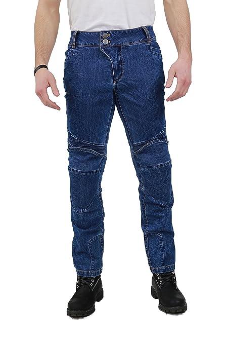 NERVE 22140116_04  Ranger Jean de Moto, Bleu, Taille L