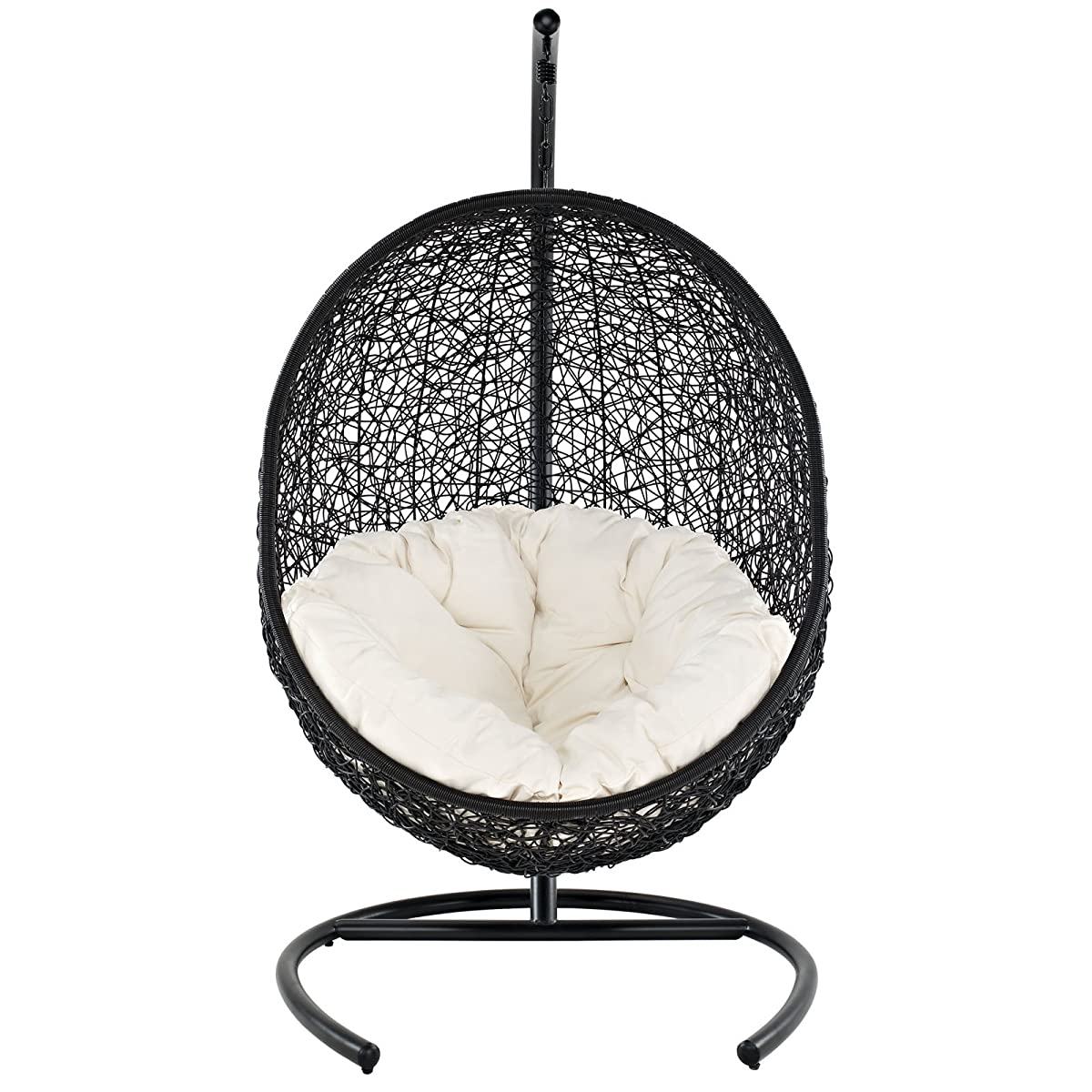 Modway Encase Rattan Outdoor Patio Swing Chair, Suspension Series