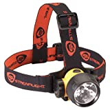 Streamlight 61080 Trident HP Headlamp with All White LEDS, Alkaline Batteries and Rubber/Elastic Straps, Yellow