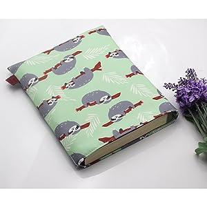 Book Sleeve Sloth Book Cover Medium Book Sleeves Teen Gift Medium