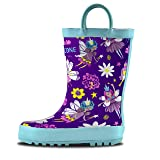 LONECONE Rain Boots with Easy-On Handles in Fun Patterns for Toddlers and Kids, Bippity Boppity Fairy Boots, Toddler 10