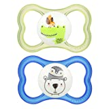MAM Sensitive Skin Pacifiers, Baby Pacifier 6+ Months, Best Pacifier for Breastfed Babies,
