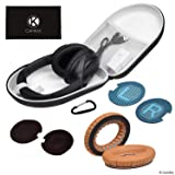 CamKix Ear Pads Replacement and Protective Storage Case Compatible with Bose QuietComfort/SoundTrue/SoundLink Around-Ear Headphones - Models: QC35 II, QC35, QC25, QC15, QC2, AE2, AE2I, AE2W (Color: Case + Brown Earpads, Tamaño: for Howard Leight Impact Sport OD)