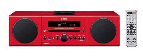 Yamaha MCRB142RD Chaîne Hifi avec Tuner FM Bluetooth/CD/Station d'accueil pour ipod et iphone Rouge