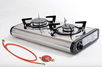 Weber Elektrogrill Kurzschluss : Hochwertiger edelstahl gaskocher 2 flammig 6 2 kw lpg camping