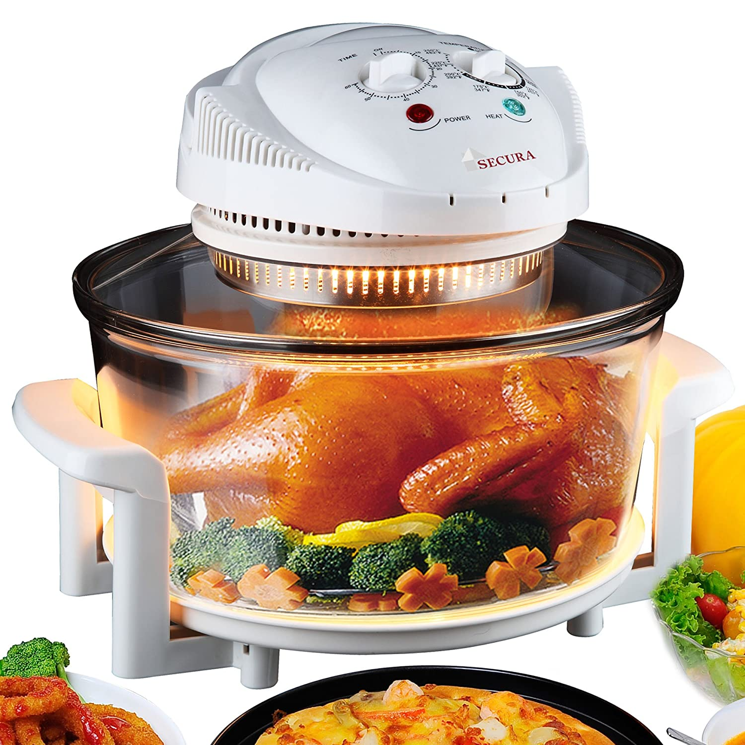 Countertop Convection Oven Rotisserie Halogen Toaster Infrared Cooking ...