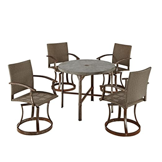 Home Styles 5670-305 Urban Outdoor 5-Piece Dining Set