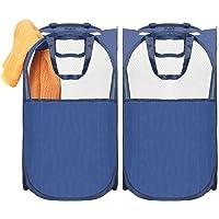 2-Pack MaidMax Pop-Up Laundry Hamper (Blue)