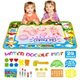 Kids Toys Doodle Mat Aqua Magic Water Doodle Mat XL, Mess Free Coloring Painting Educational Toy, Drawing Writing Mat Birthday Xmas Gift for Toddlers Boys Girls Age of 2 3 4 5 6 7 8 Year Old, 40