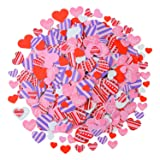 Elcoho 600 Pieces Heart Shaped Foam Stickers Self Adhesive Valentine's Day Love Decorative Sticker for Valentine's Day, Wedding or DIY Crafts, Assorted Size and Color (Color: Set A)