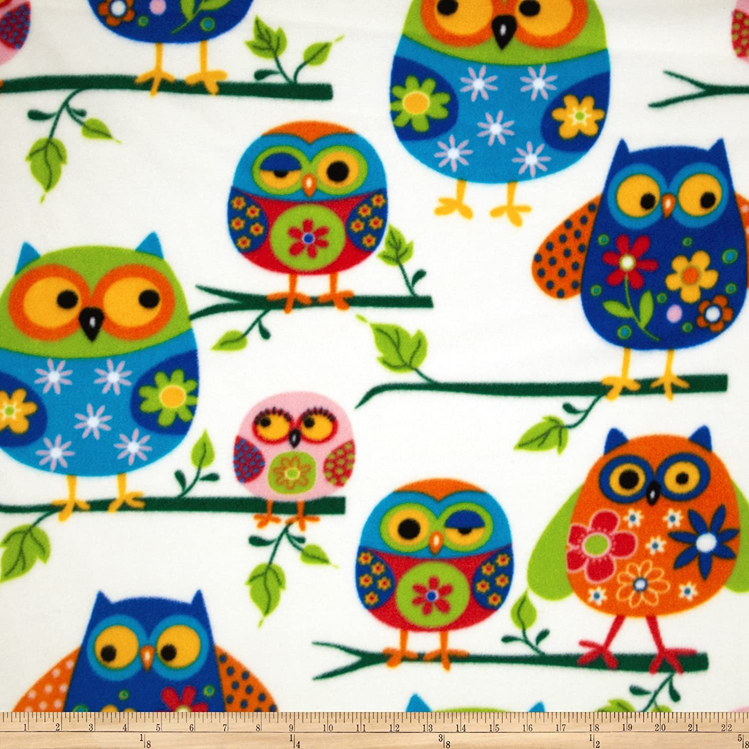 Owl Fleece fabric