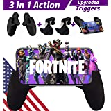 Mobile Game Controller Gamepad | Upgrade Version Sensitive Aim Shoot Metal L1R1 Trigger Fire Buttons iPhone/Android Bundle | Mobile Grip Stand Fortnite/PUBG /Critical Ops/Free Fire (Color: Mobile Game Controller METAL TRIGGER(BLACK))