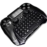 JahyShow® Bluetooth Mini Wireless Chatpad Message Game Controller Keyboard Chatpad for Sony Playstation PS4 Controller (Black)