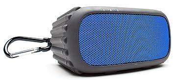Grace Digital ECOROX GDI-EGRX602 Haut Parleur Robuste et Etanche Sans Fil Bluetooth Compatible avec Smartphones/Tablettes/Appareils MP3 - Bleu