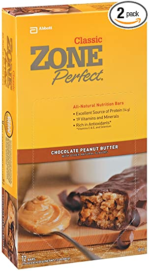 Отзывы ZonePerfect All Natural Nutrition Bar, Chocolate Peanut Butter, 1.76-Ounce Bars in 12-Count Boxes (Pack of 2)