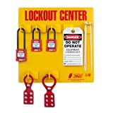 ZING 7113 RecycLockout Lockout Tagout Station, 3 Padlock, Stocked