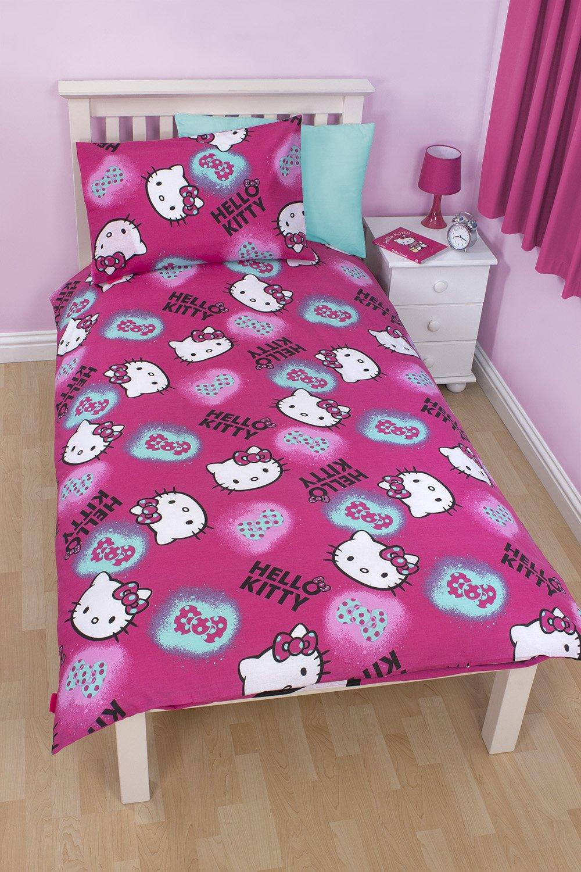 original sanrio hello kitty hearts bettw sche 135x200cm. Black Bedroom Furniture Sets. Home Design Ideas