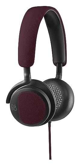B&O PLAY by Bang & Olufsen BO1642306H2 Casque Audio H2 Ultra-flexible avec Microphone et Commande - Bordeaux