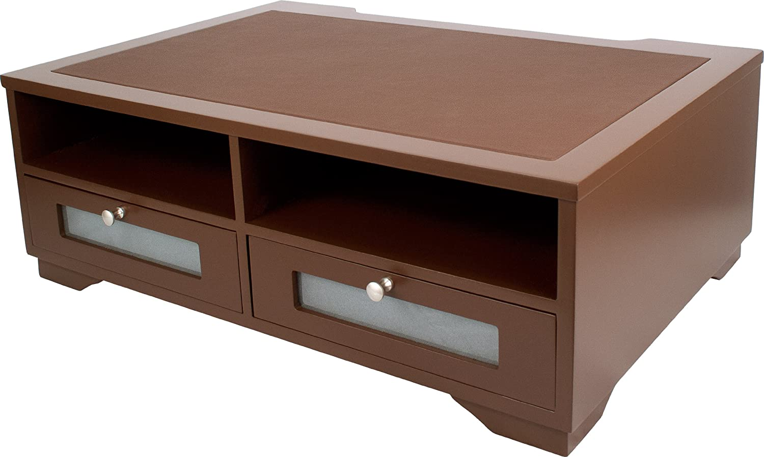 Wooden Printer Tables ~ Wood printer stand office desk shelves drawer table paper