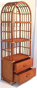 Rattan Wicker w/ 2 Drawers 3 Shelves