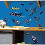 RoomMates Batman Gotham Guardian Peel and Stick Wall Decals (Color: Multicolor, Tamaño: Pack of 1)