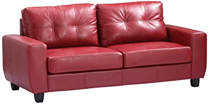 Glory Furniture G209A-S Living Room Sofa, Red