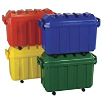 ECR4Kids Stackable Storage Trunks Pack of 4 Assorted Colors